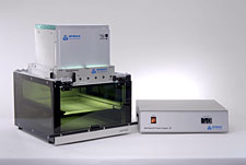 2000-EC UV Flood Lamp complete system shown with Light Shield and Manual Shutter - PN 39723
